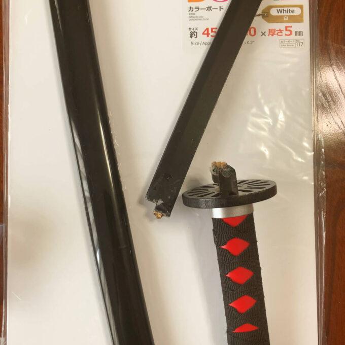 コスプレ用の折れた日輪刀